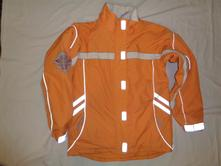Luxusní svítivě oranžová teploučká zimní bunda, c&a,152