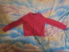Růžový svetřík na knoflíčky, george,104