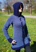Háčkovaný svetr s kapucí, l - xxxl