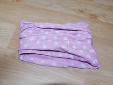 Bavlneny nakrcnik oboustrany -fialovy a s puntiky, c&a