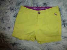 Žluté šortky kraťásky, h&m,104