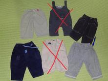 Dětské kalhoty, teplejší 60-80. 30kč/ks, 80