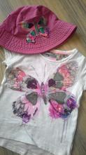 Tričko next s motýlkem vel. 86 + klobouk, next,86