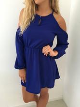Modré šaty, vel. s - m, s