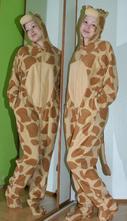 Fleecový overal žirafa, 40