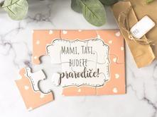 Oznámení těhotenství -puzzle pro budoucí prarodiče,