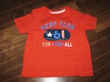 Červené tričko s potiskem zn.mother care vel. 80, mothercare,80