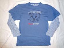 Nádherné silnější modré tričko s tygrem, tcm,146