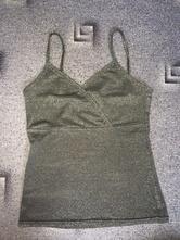 Stříbrné tričko na ramínka, fishbone,xs