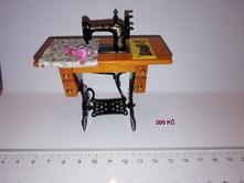 Miniaturní kovový šlapací šicí stroj (atrapa) se s,
