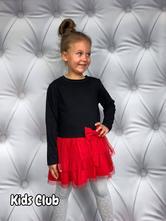 Šaty s dlouhým rukávem a tylovou sukní, 98 - 164