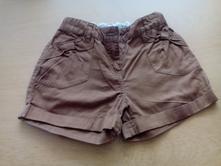 Plátěné šortky, kraťasy, skořicové, 6 let, tu,116