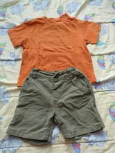 Šortky a zdarma tričko, h&m,80