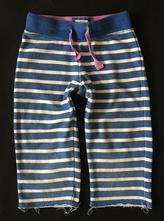 Vel.116 modré proužkované krátké tepláky s tkanicí, 116