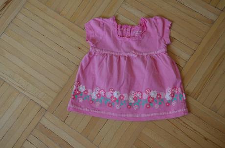 Růžové šaty_tunika vel. 12-18 m, 80