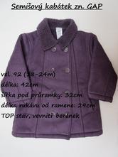 Semišový kabátek s beránkem zn. baby gap, gap,92
