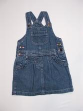 P216 jeans šatovka / sukně s laclem vel. 98, george,98