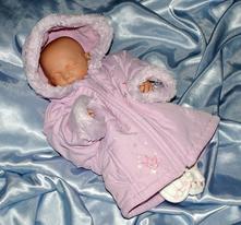 Fialová bundička podšitá fleecem 3-6 měsíců, adams,68