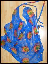 Šátek na plavky - modrý s barevným detailem,