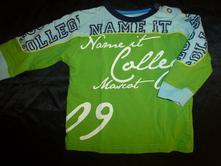 Zelené, sportovní tričko s dlouhým rukávem, name it,80