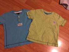 Dvě chlapecká trička next, next,62