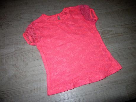 Neonové krajkové tričko, young dimension,116