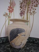 Dekorace váza egyptský motiv,