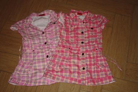 2x šaty na knoflíky, 110