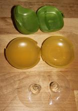 Kloboučky na kojení medela,