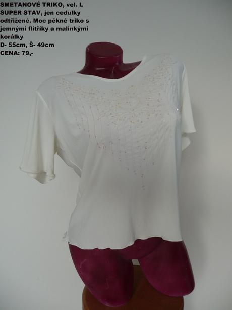 A1 smetanové triko, l