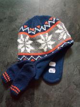 Zimní čepice s rukavičkami, f&f,80