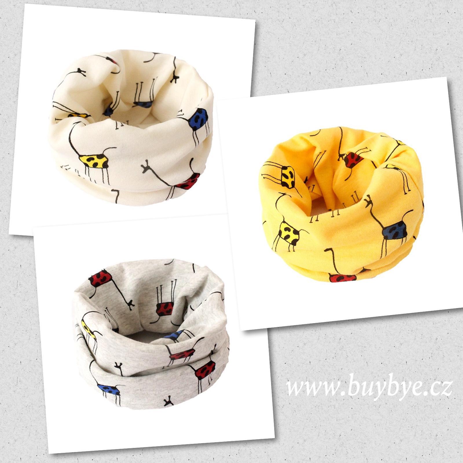 Multifunkční dětský nákrčník tunel - žirafy 0bd638a530