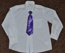 Společenská chlapecká košile s kravatou 6-7 nové, 122