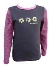 Dívčí tričko malinovo-hnědé - akce, 98
