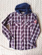 Kostkovaná košile s kapucí káro košile, marks & spencer,164