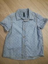 Dětská džínová košile zn. benetton jeans, vel. 86, benetton,86