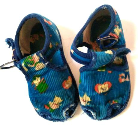 M283 - dětké modré papuče, baťa,20