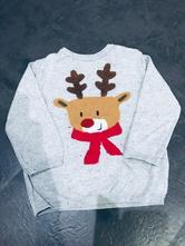 Vánoční šedý svetr, h&m,92