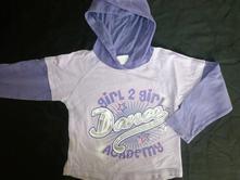 Fialové tričko s kapucí a nápisem, girl2girl,98