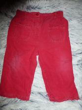 Červené manžestrové kalhoty, george,80