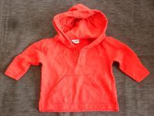 Vel. 74 červená mikina s kapucí, 74