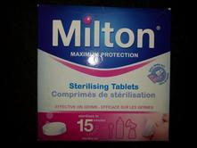 Sterilizační tablety milton,