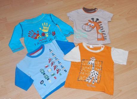 2 x tričko dlouhý rukáv + 2 x tričko krátký rukáv,