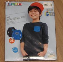Sada 2 ks triček s dlouhým rukávem, lupilu,116