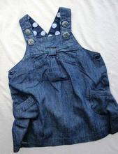 Džínové šatičky, baby,74
