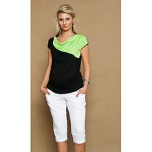Těhotenské jeans 3/4 - bílé, l - xxxl