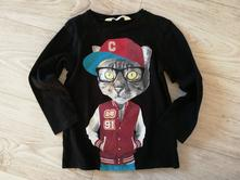 Tričko s kočkou, h&m,104