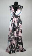 Veselé barevné dlouhé šaty vel 36-38, 36