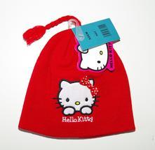 Zimní čepice hello kitty, 98 - 140