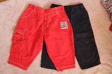 Plátěné kalhoty 2 ks, 80